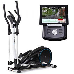 Crosstrainer MX1000 Elliptical Hometrainer Smartphone Steuerung Bluetooth 4.0 + Google Street View Ellipsentrainer 32 Widerstandsstufen 12 Trainingsprogramme