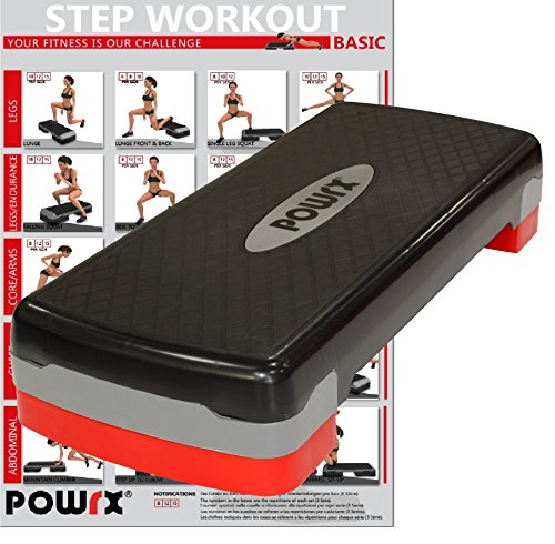 Steppbrett inkl. Workout Fitness Step Stepper Home Aerobic Stepbench