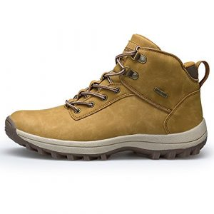 Fexkean Herren Trekking Wanderschuhe Wasserdicht Outdoor Stiefel Hiking Sport Schuhe Laufschuhe Stiefel Schwarz Braun Khaki 38-46