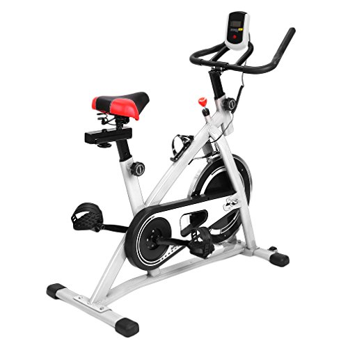Blackpoolal Profi Indoor Cycle Fahrrad Heimtrainer Cycling Fahrrad Trimmrad Indoor Fitness Bike mit LCD Display, Speedbike Fitnessfahrrad Fahrrad Fitnessbikes bis 120KG, Einstellbare Fahrradtrainer Hometrainer