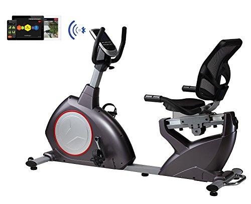 Sitz-Liege-Ergometer BODYCOACH 21853,  Heimtrainer magnetischer Widerstand ca. 15 kg Schwungmasse, Computer mit 24 Programmen, Bluetooth USB, MP3 und APP fähig, bis 150 kg