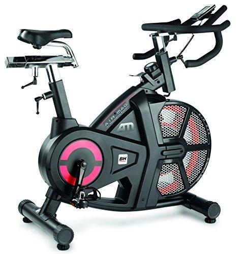 BH Fitness AIRMAG H9120 indoorbike - indoorcycling - 18 kg Schwunggewicht - 2 Bremssysteme (Magnetisch + Druckluft)