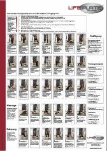 Lifeplate Poster zum Vibrationstraining – powered by MAXXUS