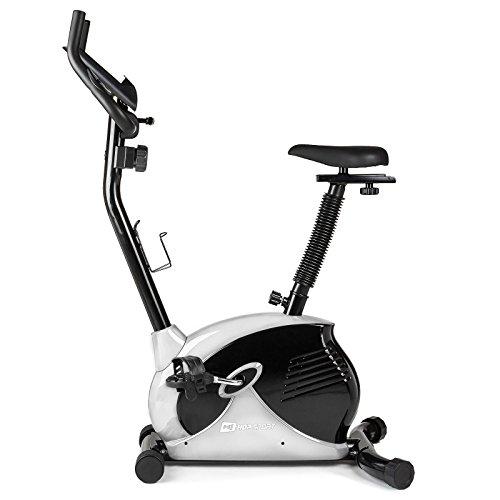 Hop-Sport Heimtrainer SPARK Fitnessgerät mit Pulssensoren & Computer Silber