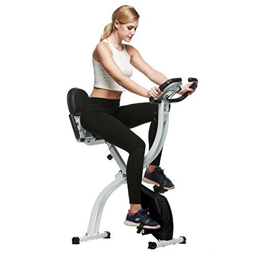 Teamyy Fahrradtrainer Heimtrainer LED Kalorien Fitnessgerät Stepper Fahrrad