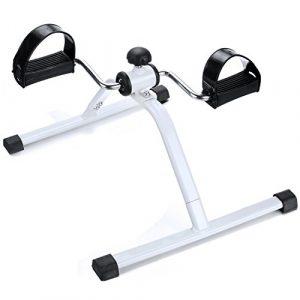 Qulista Büro Bewegungstrainer Beintrainer Senioren Pedaltrainer verstellbarer Tretwiderstand, Mini Fitnessbike Armtrainer Heimtrainer zuhause für Hüfte, Knie, Arme und Beine
