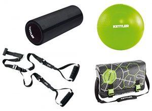 Kettler Functional Training Athlete Set – inkl. Sling Trainer, Blackroll, Gymball und Umhängetasche für das Ganzkörpertraining – das ideale Trainingsset für das Workout – schwarz & grün