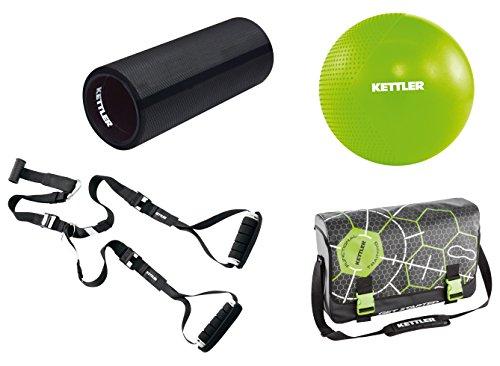 Kettler Functional Training Athlete Set - inkl. Sling Trainer, Blackroll, Gymball und Umhängetasche für das Ganzkörpertraining - das ideale Trainingsset für das Workout - schwarz & grün
