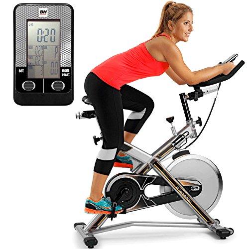 BH Fitness MKT JET BIKE PRO H9162RF , Indoorbike, Silber/Grau/Gelb, One Size