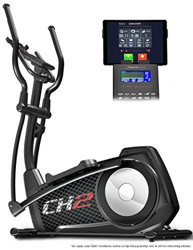Sportstech CX2 Crosstrainer mit Smartphone App & integriertem Stromgenerator - Ellipsentrainer inkl. Bluetooth Konsole und Tablet-Halterung - Ergometer mit 27 Kg Schwungmasse