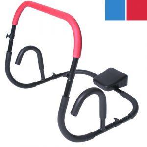 Physionics Bauchtrainer Bauchmuskeltrainer Fitnessgerät für Sit-Ups AB Roller Rückentrainer Muskeltrainer