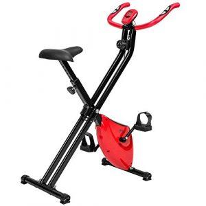 TecTake Fitness Fahrrad Hometrainer klappbar mit Computer