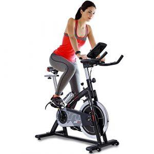 Sportstech Profi Indoor Cycle SX200 mit Smartphone App Steuerung + Google Street View, 22KG Schwungrad, Armauflage, Pulsgurt kompatibel – Speedbike mit flüsterleisem Riemenantrieb – Fahrrad Ergometer bis 125 KG