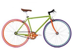 KS Cycling Fixie Fitnessbike Essence RH 47 cm Fahrrad, Grün, 28