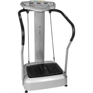 "MOVIT Vibrationsplatte ""Vitality Fit Vibration 2.0"" Vibraplate mit BMI Messung inkl. 2 Fitnessbänder für effektives Ganzkörpertraining, Vibrationstrainer mit 4 Programmen"