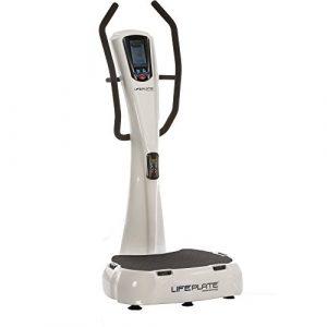 Lifeplate Vibrationsplatte 4.1, Trainingsanleitung auf Dem Display! 3D-Vibrationen für Einen schonenden und effektiven Muskelaufbau. Max. Benutzergewicht: 180kg.