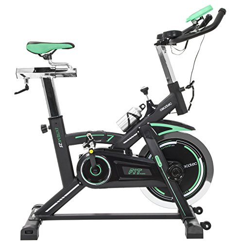 Cecotec Spinning-Fahrrad Extreme 25Pulsuhr. 25kg Profi Lenkrad Trägheit... LCD Display. Widerstand Variable. Stabilisatoren. silencefit.
