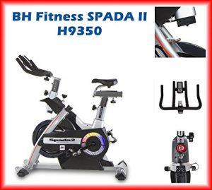 BH Fitness SPADA II H9350 Indoorbike Indoorcycling – 3-faches Bremsystem – Gemischte SPD-Trekking-Pedale – Trinkflaschenhalter