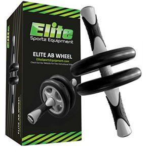 Elite sportz equipment Abs Wheel – Crossfit – Dual Ab Roller – Sanftes Training – Komplett vormontiert, Robust und Sehr Langlebig.