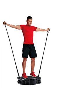 Body Coach Vibro Plate Premium Vibrationstrainer Fitness 3D Shaper Board – Vibrationsplatte mit Gurten Zum Ganzkörper Trainieren – Stabile Platte oszillierend bis 100kg belastbar