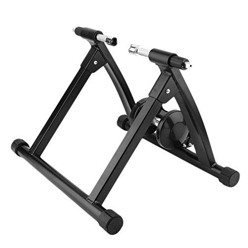 KATHER Profi Magnet Stahl Bike Fahrrad Ständer Widerstand Trainer Radfahren Mountain Indoor Training Station Schwarz