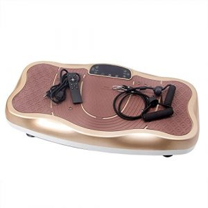 Vibrationsplatte mit Bluetooth, Magnet Fußreflexzonenmassage Funktion, Trainingsbändern + Fernbedienung + Lautsprecher im Vibrationsgerät