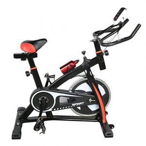 Blackpoolal S300 Hometrainer LCD Fitnessfahrrad Heimtrainer Fahrrad Fitness Bike Indoor Cycle Trimmrad Cycling Rad Sattel, Fitnessbike Fahrradtrainer Ergometer bis 200 KG