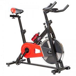 TecTake 401714Fahrrad (Schwarz, Rot, Vertikal/Horizontal, Kalorien-, Geschwindigkeits- und Zeitmonitor)