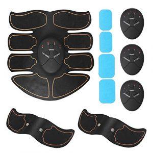EMS Training Muskelaufbau Elektrostimulatoren Bauchmuskel-Training Bauchmuskeltrainer Übung Um Gewicht Zu Verlieren Home Fitness Machine für Mann Damen