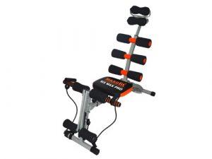 MAXOfit Heimtrainer Multitrainer Sixmax MF-6,  grau/schwarz/orange, 86 cm x 25 cm x 40 cm