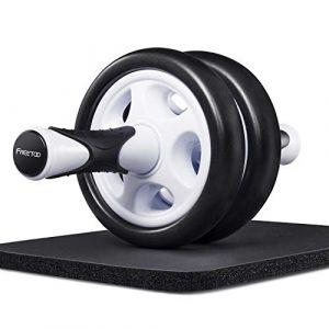 FREETOO [Bauch Roller] Bauchtrainer Hochwertiger AB Roller mit Knieauflage Bauchmuskeltrainer für Einsteiger und Fortgeschrittene (B)