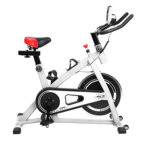 Blackpoolal Profi Indoor Cycle Heimtrainer Cycling Fahrrad Trimmrad Indoor Fitness Bike mit LCD Display Speedbike Fitnessfahrrad Fahrrad Fitnessbikes Einstellbare Fahrradtrainer Hometrainer bis 120KG