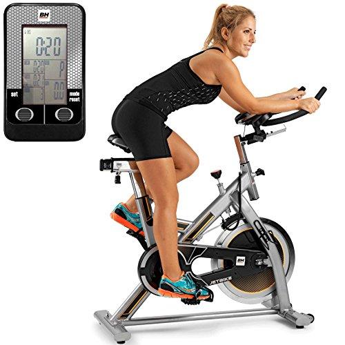 BH Fitness Uni Mkt Jet H9158RF Indoor Bike, Silber Grau/Gelb, One Size