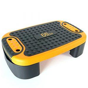 66fit Multi-Steppbrett – Stepper, 4 Funktionen, Aerobic, Dehnung, Gleichgewicht