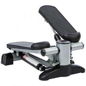 Ultrasport Up-Down-Stepper für Fitness und Aerobic, Ministepper mit Trainingscomputer und großen Trittflächen, Heimtrainer für Bauch Beine Po Training
