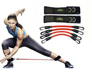 FIGROL Gymnastikbänder Fitnessbänder Set Beintrainer Sprungtrainer – für Kinetik, Geschwindigkeit, Beweglichkeit und Stärke Taekwondo Springenübung Basketball Fußball Tennis Training