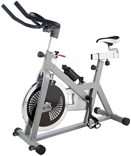 PEARL sports Indoor Bike: Indoor-Cycle, 18 kg Schwungmasse in 2 Richtungen, belastbar bis 100 kg (Heimtrainer Fahrrad)