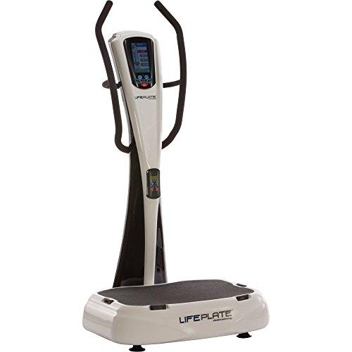 Vibrationsplatte LifePlate 5.1, Trainingsanleitung mit Übungen auf dem Display! Vertikale Vibrationen für einen effektiven Muskelaufbau. Gedämpfte Aufhängung der Trainingsplatte. Auch zur Massage geeignet.