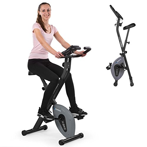 Kinetic Sports Fitnessbike Fitnessfahrrad Ergometer Heimtrainer Hometrainer Fahrrad, Magnetbremssystem, Handpulssensoren, Trainingscomputer, klappbar