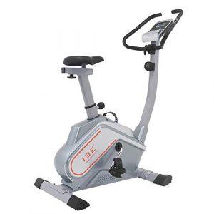 ISE Heimtrainer Heimtrainer Magnetic Fitness Gym Bike Indoor-Fahrrad mit Konsole (Hellgrau) SY-8602
