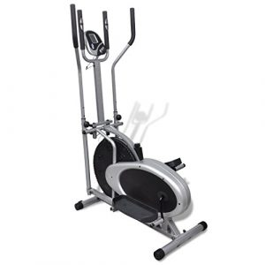Festnight Heimtrainer Ergometer Fitness Stepper Walking Ellipsentrainer mit LCD-Display
