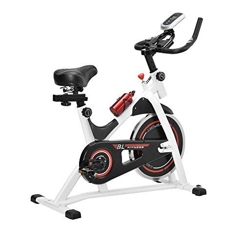 [in.tec] Heimtrainer/Fitness Bike/Indoor Cycling Rad - Weiss - Fitnessgerät