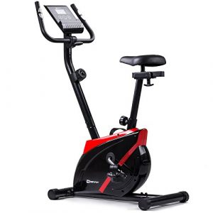 Hop-Sport Heimtrainer ONYX Fitnessgerät mit Pulssensoren und Computer (Rot)