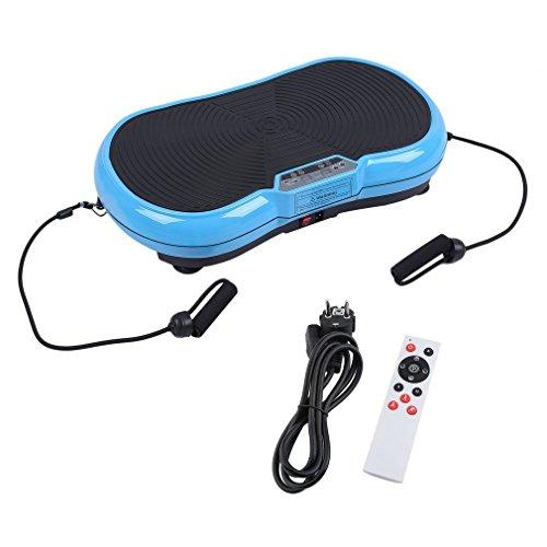 Profi Vibrationsplatte Vibrationstrainer Power Vibro Platte Ganzkörpertraining Ausdauer 200W inkl. Trainingsbänder mit rutschsicherer Trainingsfläche, LCD Display & Fernbedienung