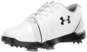Under Armour Jungen Spieth 3 Jr. Golfschuhe, Weiß (White/Overcast Gray/Black 100), 39 EU