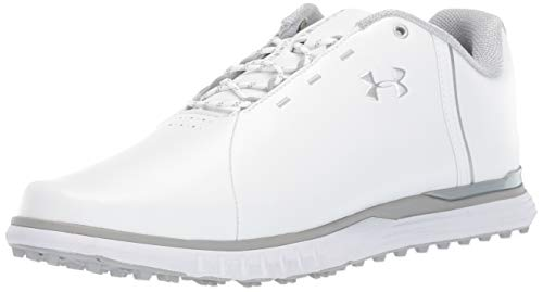 Under Armour Damen Fade Sl Golfschuhe, Weiß (White/Overcast Gray/Metallic Silver 100), 38 EU