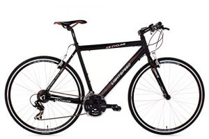 KS Cycling Fahrrad Fitnessbike Alu Lightspeed RH 58 cm Schwarz, 28