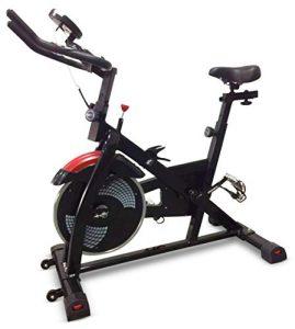 FitBike Indoor Cycle Race Magnetic Pro – 22 kg Schwungrad – Poly V-Riemen und Magnetisches Widerstandssystem – Mit SPD pedale – Spinning Fahrrad