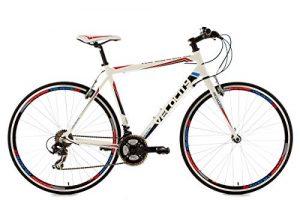 KS Cycling Uni Fahrrad Fitnessbike Alu-rahmen 28 Zoll Velocity 21-gänge RH 53 cm, Weiß, 28, 120R