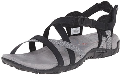 Merrell TERRAN LATTICE II, Damen Sandalen, Schwarz (BLACK), 38 EU (5 UK)